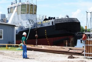 Benny Cenac Jr. of Cenac Marine Services gets Certificate of Inspection in accordance with Subchapter M